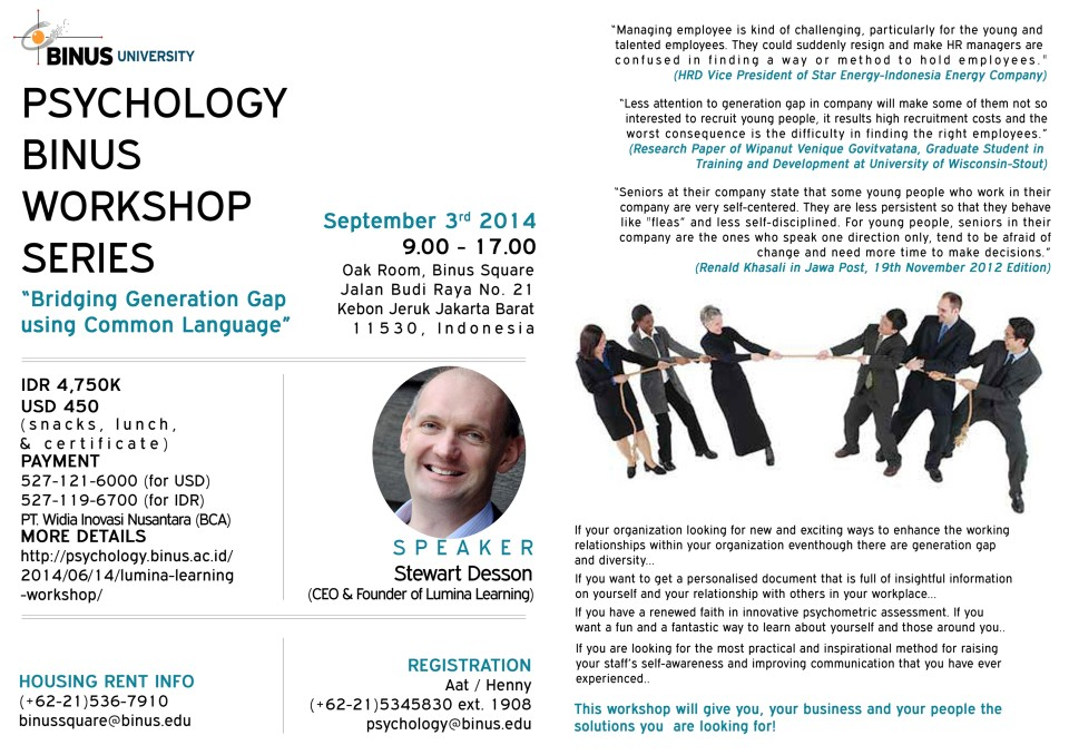 Psychology BINUS Workshop Series