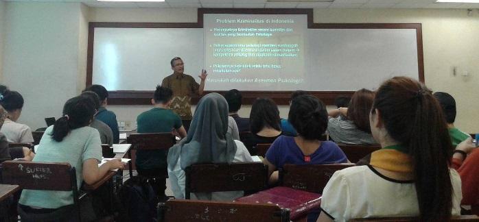 Mahasiswa Psikologi Binus Belajar dari Psikolog Forensik Mabes Polri