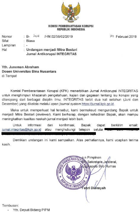 Surat Undangan KPK