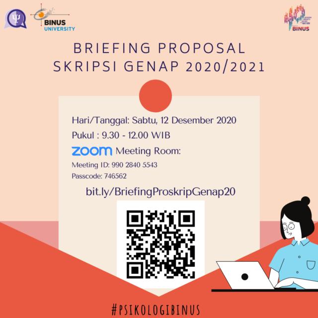 Briefing Proposal Skripsi Genap 2020 2021 Psychology